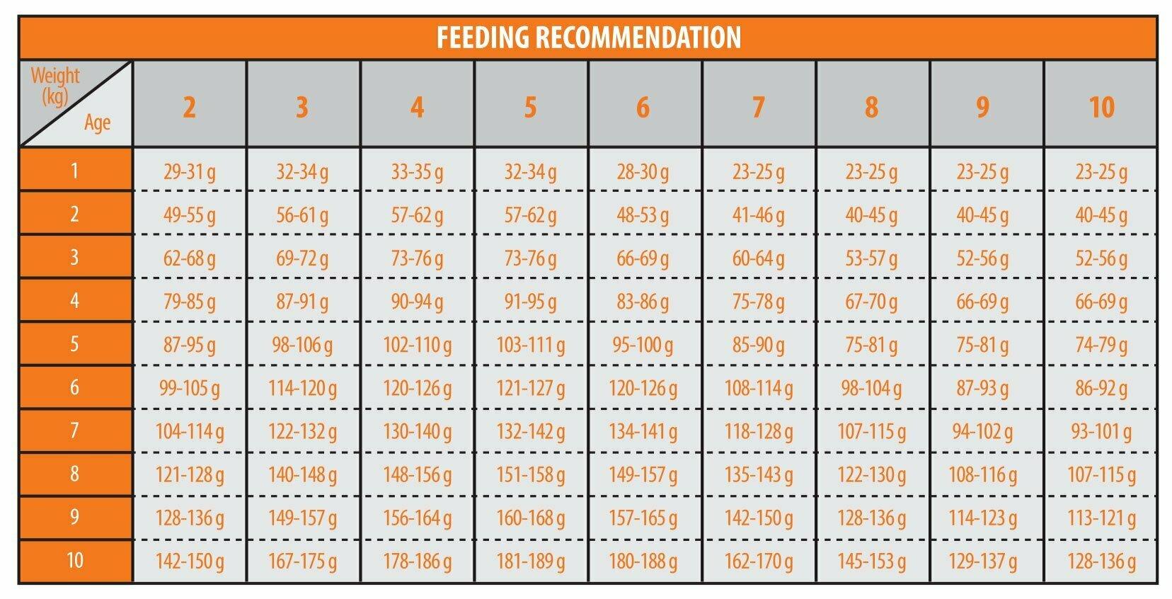 جدول-میزان-مصرف-غذای-خشک-توله-سگ-6-تا-18-ماهه-نژاد-مینیاتوری-و-کوچک-رویال-فید