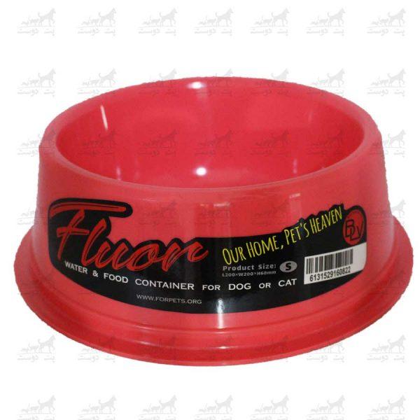 ظرف-آب-و-غذا-مدل-فلور-کوچک-قرمز2
