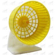 چرخ-و-فلک-همستر-پایه-دار-و-قابل-اتصال-به-بدنه-قفس-کد-3510-زرد
