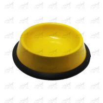 ظرف-آب-و-غذا-فلزی-با-پایه-لاستیکی-کد-1315-زرد