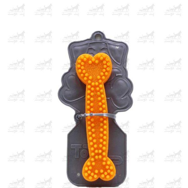 اسباب-بازی-دندانی-طرح-استخوان-مدل-زیوس-کوچک-نارنجی