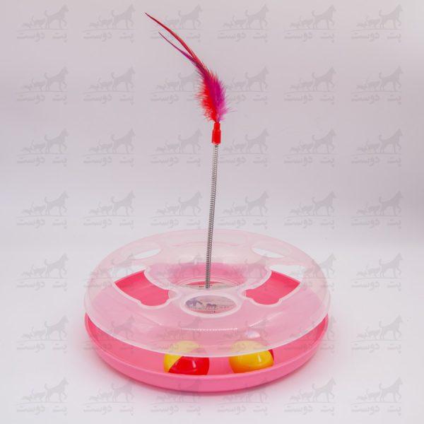 اسباب-بازی-مخصوص-گربه-برند-Mesha-کد-2317-صورتی