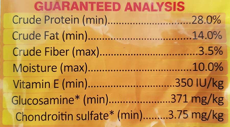 جدول-آنالیز-ترکیبی-غذای-خشک-توله-سگ-نژاد-بزرگ-مدل-Guard-Dog-Puppy-برند-مفید