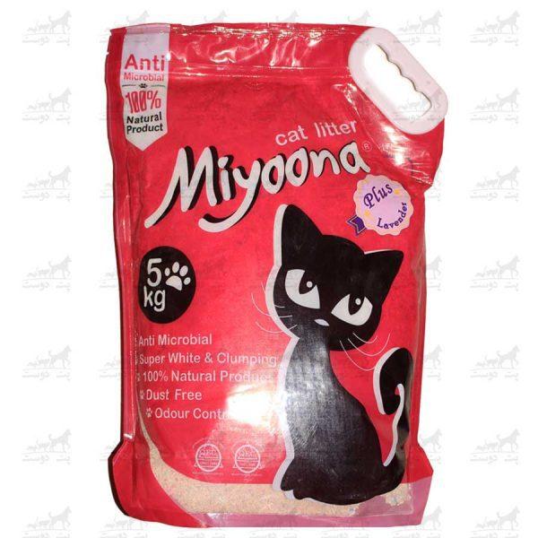 خاک-بستر-گربه-آنتنی-باکتریال-بنتونیت-برند-میونا-5کیلویی-اسطوخودوس