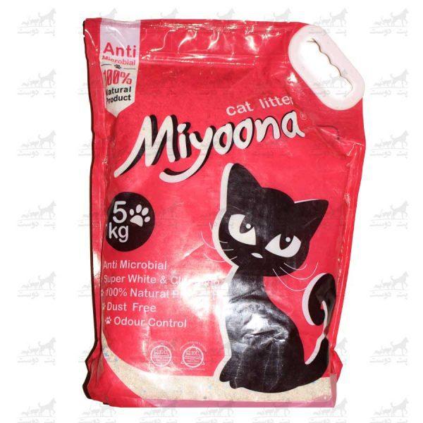 خاک-بستر-گربه-آنتنی-باکتریال-بنتونیت-برند-میونا-5کیلویی-ساده