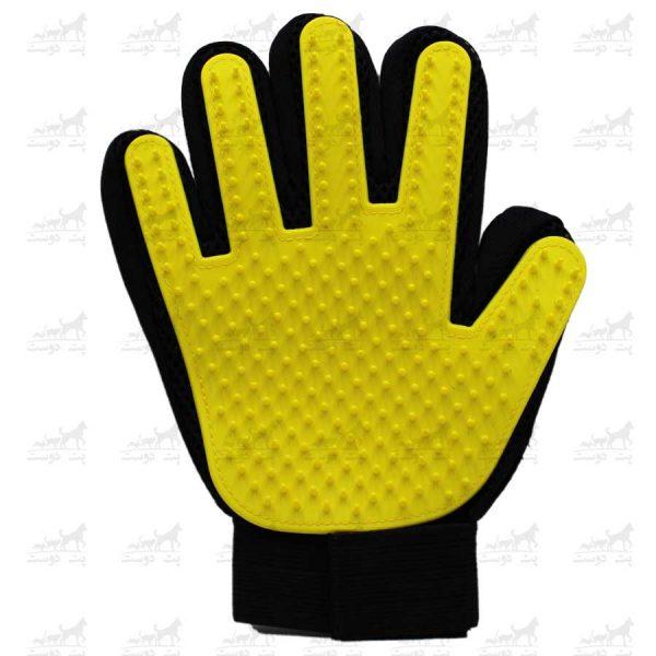 دستکش-مو-جمع-کن-برند-Boboo-Touch-زرد