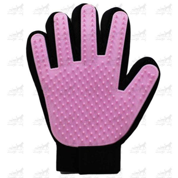 دستکش-مو-جمع-کن-برند-Boboo-Touch-صورتی