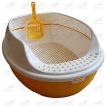 ظرف-خاک-گربه-به-همراه-بیلچه-و-سینی-جدا-کننده-کد-2412-زرد