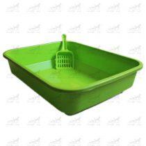 ظرف-خاک-گربه-به-همراه-بیلچه-کد-2411-سبز