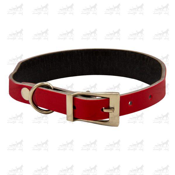 قلاده-گردنی-چرمی-مدل-جونیور-کد-1339-قرمز
