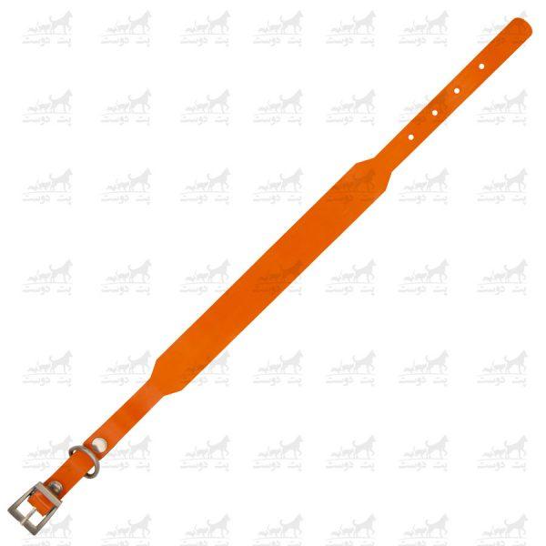 قلاده-گردنی-چرمی-مدل-جونیور-کد-1339-نارنجی2