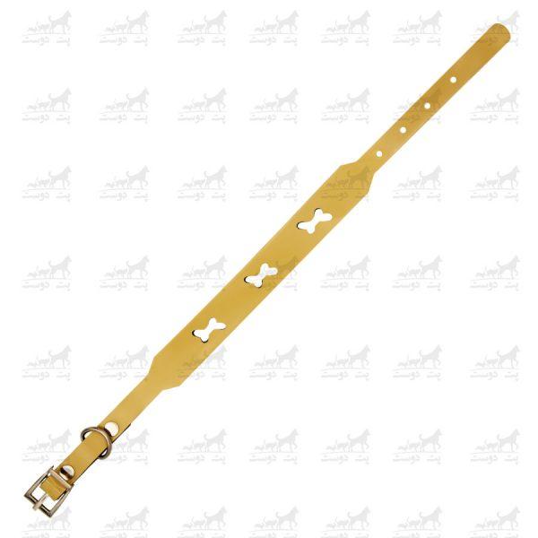 قلاده-گردنی-چرمی-طرح-استخوان-مدل-جونیور-کد-1310-کرم3