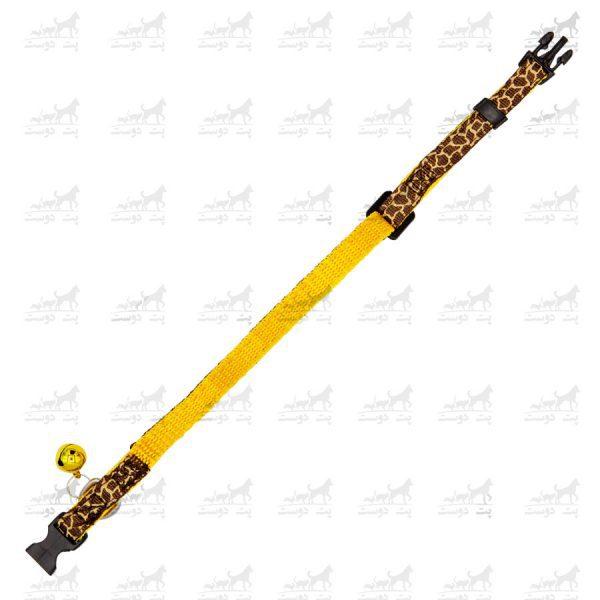 قلاده-گردنی-زنگوله-دار-برند-H2H-زرد