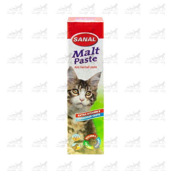 خمیر-مالت-ویتامینه-گربه-برند-Sanal