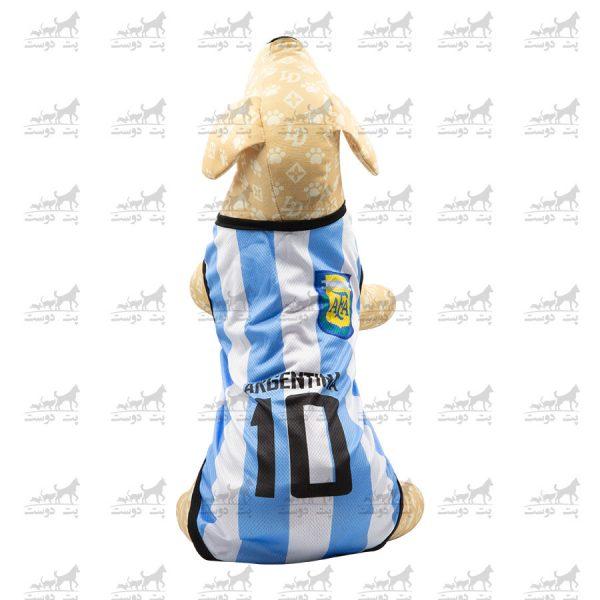 لباس-ورزشی-فوتبالی-سگ-کد1346-آرژانتین-مانکن2
