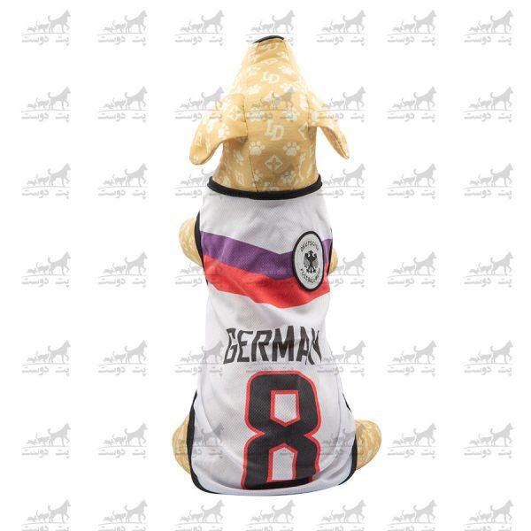 لباس-ورزشی-فوتبالی-سگ-کد1346-آلمان-مانکن2