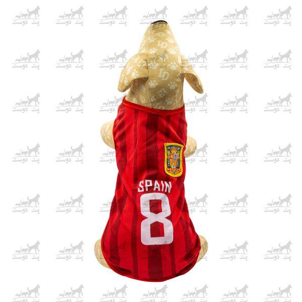 لباس-ورزشی-فوتبالی-سگ-کد1346-اسپانیا-مانکن