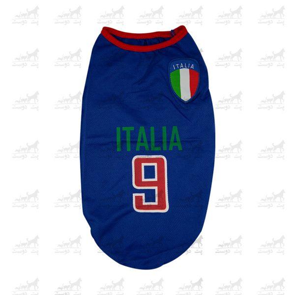 لباس-ورزشی-فوتبالی-سگ-کد1346-ایتالیا