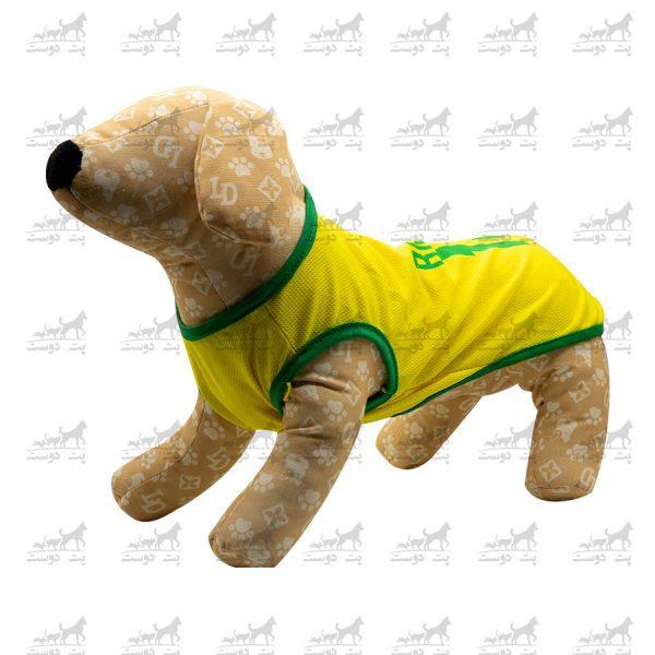 لباس-ورزشی-فوتبالی-سگ-کد1346-برزیل-مانکن