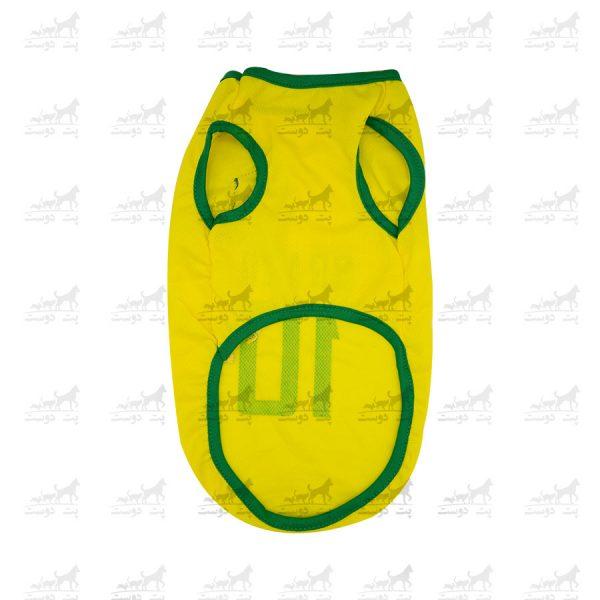 لباس-ورزشی-فوتبالی-سگ-کد1346-برزیل-پشت