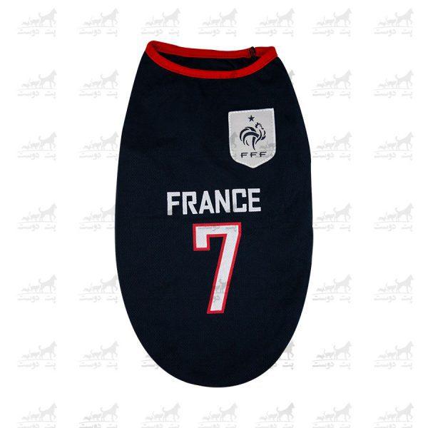 لباس-ورزشی-فوتبالی-سگ-کد1346-فرانسه
