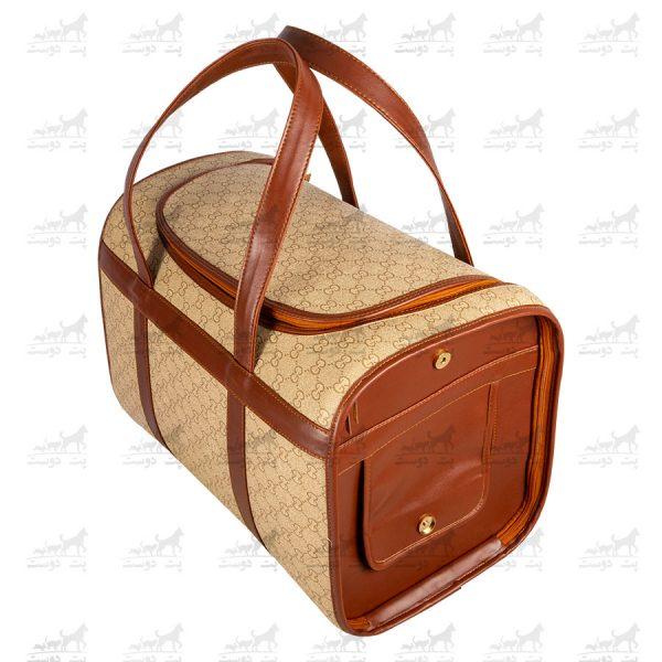 کیف حمل چرم مخصوص حیوانات خانگی کد1363